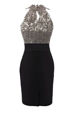 Grey Embroidery Detail Dress- classically beautiful with a playful spin.  Remember to check out this site further.