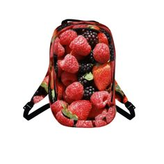 #berries-pak by #chefjenkins, #citrusreport, #alloverprint, #backpack, #pak, #bag, #unisex, #mens, #berries, #fruit, #natural, #yum, #strawberries, #strawberry, #fields, #forever, #red, #purple, #green, #juice, #@The Citrus Report