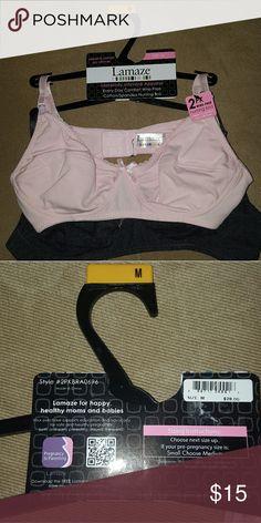 LAMAZE  nursing bras, one pink, second  gray Brand new,  size M Lamaze Intimates & Sleepwear Bras