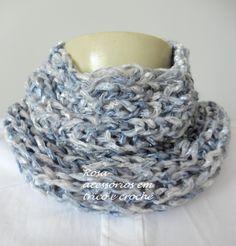Gola tricô - cowl - knit - knitting - winter by www.rosaacessorios.blogspot.com