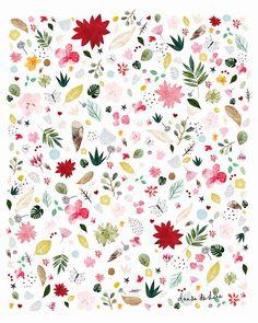 Joy  Floral pattern colorful pattern floral art by dansedelune
