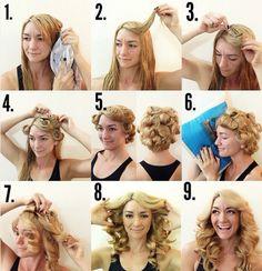 heatless curl hairstyle