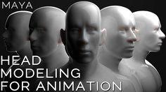 Maya HEAD MODELING for ANIMATION tutorial