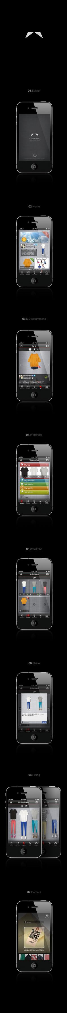 iOS Application everywear by kwang kuk Kim, via Behance