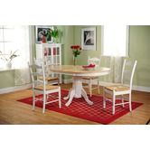 Found it at Wayfair - 5 Piece Dining Set in White and Natural