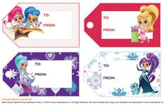Nick Jr, Shimmer N Shine, Christmas Gift Tags, Party Themes, Printables, Frame, Decor, Picture Frame, Decoration