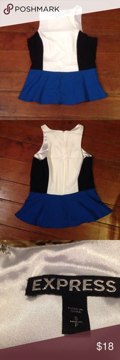 Express color block  formal top Size small. Lined. Excellent condition. Express Tops Blouses