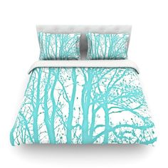 "Monika Strigel ""Mint Trees"" Cotton Duvet"