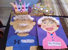Ideas for the 100th day of school. Crown, glasses, and a picture of how we think we will look when were 100 yrs old.