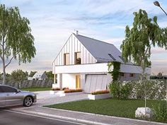 Antara projekt domu - Jesteśmy AUTOREM - DOMY w Stylu Modern Barn, Antara, Curb Appeal, Paint Colors, Outdoor Structures, House Design, Cabin, Colours, Inspiration