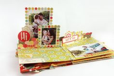 Scrapbooking pop up album