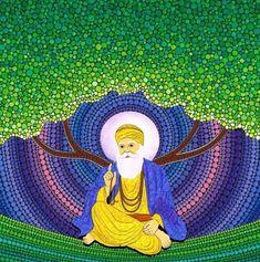 Guru Nanak Ji, Nanak Dev Ji, Guru Nanak Wallpaper, Art Drawings Sketches, Blessings, Mandala, Blessed, God, Disney Characters