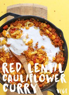 This Red Lentil Cauliflower Curry is a delicious quick and easy weeknight meal that is both gluten-free and vegan.