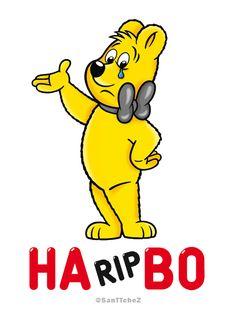 Logo Haribo #HARIPBO #RIP #Hommage