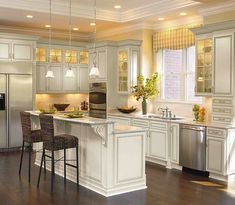 Like Two Tiered Island And White Cabinets, Decora   Cambridge In Maple  Chantile Expresso. Home Depot