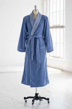 Classic Spa Robe - Terry Cloth   Microfiber - Periwinkle 8b3d99600