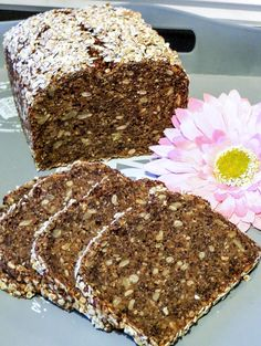 Chia-Power-Brot Cake, Desserts, Food, Baguette, Kitchens, Kuchen, Breads, Brown Bread, Baked Goods