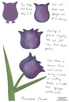 By Michele Reynolds. Tulip from two-step Owl Punch (Stampin' Up).