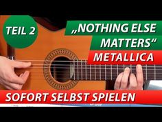 ★ METALLICA ► Nothing Else Matters Intro #2 ► GITARRE LERNEN Tutorial - YouTube