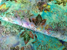 Maple leaf batik fabric