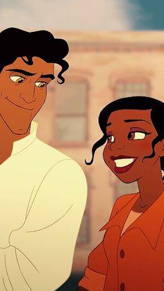 All die Dinge, die du liebst - Disney - - Tiana Disney, Disney Princes, Disney Couples, Disney Art, Princesses Disney, Disney Magic, Prince Naveen, Tiana And Naveen, Disney Cartoons