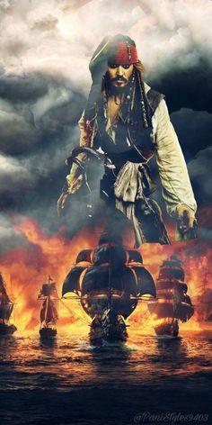 Jack Sparrow Tattoos, Jack Sparrow Quotes, Wallpaper World, Disney Wallpaper, Pirate Art, Pirate Life, Davy Jones, Xman Marvel, Captian Jack Sparrow