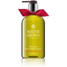 Wondrous Myrrh, Musk Cypress Fine Liquid Hand Wash ❤ liked on Polyvore featuring beauty products, bath & body products and body cleansers