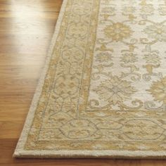 Ballard Designs Tabitha Rug,100% Wool pile, Cozy tones of Dijon, French Gray and Antique Cream, size 9' x 12'