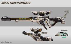 scifi sniper concept: