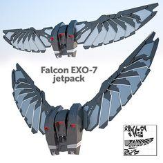 Falcon's EXO-7 jetpack and wings - Onekura