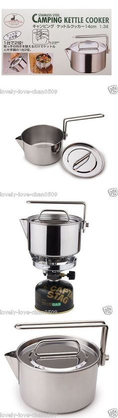 Camping Kettles 181384: Captain Stag Camping Kettle Cooker 14Cm1.3L M-7296 Japan -> BUY IT NOW ONLY: $37.8 on eBay!