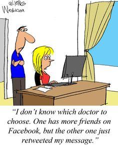 How do patients choose doctors online?