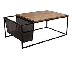 Table basse PERFORMA, noir et naturel - L100