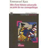 Kant et son point de vue idéaliste de l'histoire humaine. si on enlève le côté dessein de la nature et qu'on se réfugie dans le progrès moral de l'être humain, on pourrait presque espérer. se mettre sérieusement à croire que après tout on va vers une voie positive et non négative et que un jour l'homme sera bon...