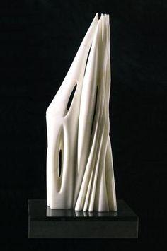 "Pablo Atchugarry, Untitled, 2006, 21""H carrrara marble at Hollis Taggart"