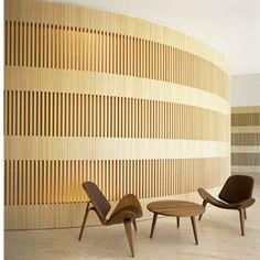 The lobby of the Puerta America in Madrid by John Pawson.