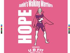 Tee featuring Heroic HumpDay winner, Janie Taylor, as Hope. These are to be used for her walking team at this year's Making Strides Against Breast Cancer event.