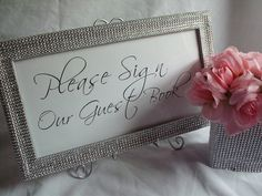 Wedding Frame  Sweetheart Table Sign  Thank You Sign by PartyBling, $26.00