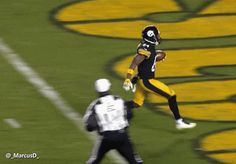 New party member! Tags: football nfl celebration done steelers pittsburgh steelers antonio brown running into a wall and im done