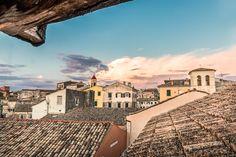 Corfu Old City Rooftops - #corfu #kerkyra #ionianislands #greece #greeceislands  #travel #traveller  #traveling #tourism #tourist #landscape #landscapes #photography #photographer #sky #stylianosphotography #corfuartphoto #unescohellas #skylight #skycolors #sunsetcolors #corfusunsets #sunsetcorfu #fineartphotography #corfuoldcity