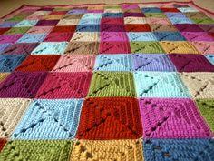 """Cottage"" Squares #Crochet Blanket | Little Tin Bird"