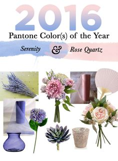 Shop by color at Afloral.com for your wedding flowers and decorations.  Find a wide variety of high-quality silk flowers in rose quartz and serenity, Pantone's 2016 colors of the year.