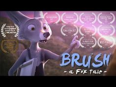 Brush: A Fox Tale An animated short film by Willi Anton & Faustina Arriola A painting fox has a crush on his neighbor. When he tries to hide it his other pai. Animated Cartoons, Animated Gif, Short Movies For Kids, Anton, Brain Break Videos, Short Film Youtube, Story Retell, Films Cinema, Elementary Spanish