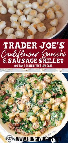 Paleo Recipes, Real Food Recipes, Dinner Recipes, Cooking Recipes, Healthy Gnocchi Recipes, Recipes With Gnocchi, Healthy Sausage Recipes, Vegetarian Meals, Cooking Tips