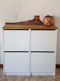 IKEA Bissa Hack. We Replaced The Top Of Two Bissas Shoe Cabinets With A  Reclaimed
