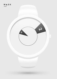 Mask Watch concept by Filip Slovacek, via Behance    simple... rotational.... you see the middle...focus on it.    i feel...washed. Clean. Feel Absolution... in my upper back... a sense of calmness spreading at the most tense parts of my body - police watches, large face watches, all black watches for men *ad