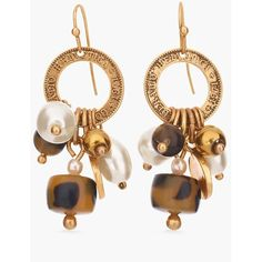 Chico's Chloe Cluster Earrings ($25) ❤ liked on Polyvore featuring jewelry, earrings, tortoise, tortoise jewelry, cluster earrings, gold tone jewelry, tortoiseshell jewelry and cluster jewelry