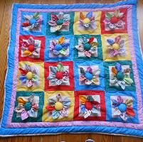 3D Flowers Charm ... by Sunset Crochet | Quilting Pattern