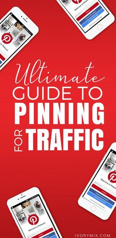 Ultimate guide to pinning traffic. Business Tips, Online Business, Pinterest Profile, Pinterest For Business, Site Internet, Social Media Marketing, Marketing Strategies, Marketing Quotes, Inbound Marketing