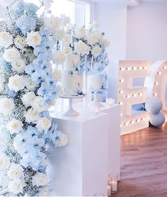with ・・・ I had the pleasure of working with the lovely Lisa from Blue Wedding Decorations, Quince Decorations, Quinceanera Decorations, Quinceanera Party, Wedding Themes, Wedding Colors, Wedding Flowers, Wedding Ideas, Cinderella Sweet 16